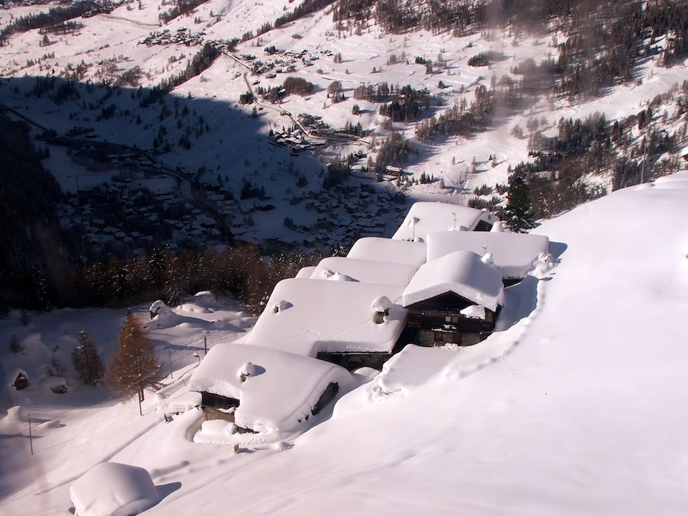 Rifugio Vieux Crest - Champoluc Valle d'Aosta - inverno in Val d'Ayas